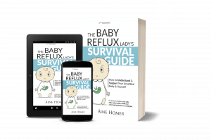 Covers of the different formats of the Baby Reflux Lady Survival Guide book